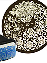 1pcs  Nail Art Stamping Plate  PolishTransfer Template And 1 Square Stamp  Nail Art Tool JQN17