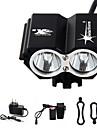 Lampes Frontales Eclairage de Vélo / bicyclette Lampe Avant de Vélo LED 5000 Lumens 4.0 Mode Cree XM-L T6 Etanche Rechargeable Urgence