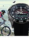 SKMEI Masculino Relógio Esportivo Digital Energia Solar Calendário Impermeável Energia Solar Silicone Banda Luxuoso Preta
