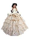 Princesa Fantasias Para Boneca Barbie Vestidos Luvas Chapéus Para Menina de Boneca de Brinquedo