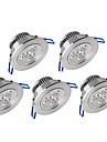 Ywxlight® 5pcs 3w 300-350lm support luminaire réglable luminaire led lumières au plafond