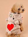 Коты / Собаки Костюмы / Толстовки Коричневый / серый Одежда для собак Зима / Весна/осень Медведи Милые / Косплей