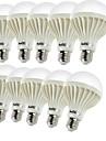 5W E26/E27 Ampoules Globe LED B 9 SMD 5630 450 lm Blanc Chaud Décorative AC 100-240 V 10 pièces
