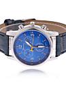 Мужской Наручные часы Кварцевый PU Группа Черный Синий Коричневый