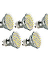5 шт. GU10 3W 60 SMD 3528 240 LM Тёплый белый MR16 Точечное LED освещение AC 220-240 V