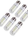 youoklight® 6PCS E14 / E27 4w 280lm 외침>80 3000k / 6000k 69 * smd5730 주도 라이트 옥수수 전구 (110-120v / 220-240v)