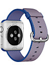Banda de relogio para relógio de maçã 38mm 42mm nylon clássico pulseira de relógio de substituição de fivela