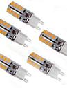5W G9 LED лампы типа Корн T 32 SMD 2835 150 lm Тёплый белый Декоративная AC 220-240 V 5 шт.