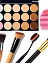 1шт 15 цветов маскировать естественный контур крем для лица / лица маскирующее макияж палитра + 1 контур кисти + 1 яйцо кисти