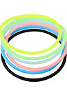 Transparent Hygienic Elastic Rubber Hair Band(Random Color)