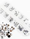 1200pcs ab acrílico cor diamante Decorações Nail Art 1.5 / 2/3/4/5/6 milímetros