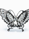 Antique Silver Butterfly Shape Brooch Scarf  Buckle Jewelry Accessories Scarf Ring For Lady