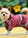 Собаки Дождевик Красный / Желтый / Зеленый Одежда для собак Лето / Весна/осень Однотонный Водонепроницаемый