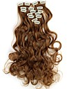 18 cm de long ondulé 7pcs/set synthétique clip dans les extensions de cheveux avec clips 16 - 16 couleurs disponibles