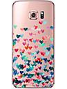용 Samsung Galaxy S7 Edge 투명 / 패턴 케이스 뒷면 커버 케이스 심장 소프트 TPU Samsung S7 edge / S7 / S6 edge plus / S6 edge / S6