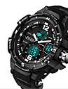 Муж. Спортивные часы Армейские часы Модные часы Цифровой LCD Календарь Секундомер С двумя часовыми поясами Фосфоресцирующий силиконовый