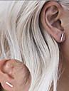 Серьги-гвоздики Базовый дизайн Мода Простой стиль Сплав В форме линии Черный Серебряный Золотой Бижутерия ДляДля вечеринок Особые случаи