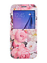 Peony Pattern PU Leather Phone Case For Samsung Galaxy S4 Mini S5 S6 edge S6 edge plus  S7 plus S7 edge Plus