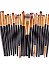 20pcs/set Makeup Brushes Powder Foundation Eyeshadow Eyeliner Lip Brush Set+Small Foundation Puff