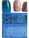 1 Autocollant d'art de clou Bouts  pour ongles entiers Fleur Dessin Animé Adorable Mariage Maquillage cosmétique Nail Art Design