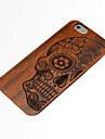 Wood Human Skeleton Carving Concavo Convex Hard Back Cover for iPhone 6s 6 Plus