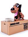 Hungry Found Coin Bank Robot Dog Coin Eating Dog Cox White Spot Choken Bako Robotic Dog Coin Bank