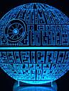 Awakens ! Multi-Colored Death Star Table Lamp 3D Death Star Bulbing Light