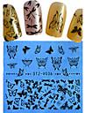 1 Стикер искусства ногтя Полностью накладные ногти Цветы Мультяшная тематика Свадьба Милый макияж Косметические Ногтевой дизайн