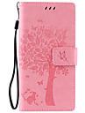 Body collant Support de Carte / Strass / résister Couleur unie Cuir PU Doux Card Holder Couverture de cas pour SonySony Xperia XA / Sony