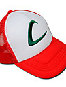 Chapéu Inspirado por Pocket Monster Ash Ketchum Anime/Games Acessórios de Cosplay Larga / Chapéu Branco / Vermelho Terylene Masculino