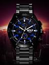 Men's White Case Black Stainless Steel Band Wrist Dress Watch Wrist Watch Cool Watch Unique Watch Fashion Watch