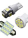11pcs белый светодиод подсветка интерьер пакет для t10& 31mm карту купол + номерного знака