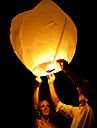 свадьба желающих со свечой китайский огонь летать небо бумага KongMing плавающей фонарь случайный цвет