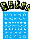 1 Autocollant d'art de clou Bouts  pour ongles entiers Autocollants de transfert de l'eau Bijoux pour onglesBande dessinée Adorable