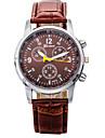 남성용 방수기능이 있는 PU아날로그 쿼츠 손목시계 gz0009017 (브라운)