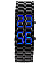 남성 패션 시계 손목 시계 독특한 창조적 인 시계 LED 달력 디지털 실리콘 밴드 뱅글 블랙 실버