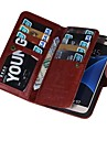Для Samsung Galaxy S7 Edge Бумажник для карт / Кошелек / Флип / Магнитный Кейс для Чехол Кейс для Один цвет Искусственная кожа SamsungS7