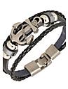 Punk Men's Bracelet PU Leather Bracelet Easy Hook Anchor for Men Fashion Jewelry Christmas Gifts