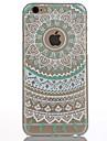 Pour Coque iPhone 6 Coques iPhone 6 Plus Translucide Autre Coque Coque Arrière Coque Fleur Dur Polycarbonate pour AppleiPhone 6s Plus/6
