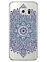 Blue Printing Pattern Soft Ultra-thin TPU Back Cover For Samsung GalaxyS7 edge/S7/S6 edge/S6 edge plus/S6/S5/S4