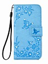 EFORCASE® Butterfly Flower Embossed Diamond PU Leather Case For iPhone 7 7 Plus 6s 6 Plus SE 5s 5