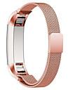 Café Noir Bleu Rouge Rose Doré Argenté Style Moderne Bracelet Milanais Pour Fitbit Regarder 10mm