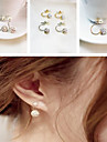 Women's Stud Earrings Classic Costume Jewelry Pearl Rhinestone Ceramic Alloy Jewelry For Party Daily Casual