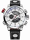 WEIDE® Men Fashion Analog Digital Sport Watch Leather Strap Stopwatch/Alarm Backlight/Waterproof Wrist Watch Cool Watch Unique Watch