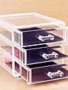 Acrylic Transparent Three Layer Cosmetics Storage Drawer Quadrate Cosmetic Organizer