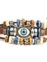 Bracelet Bracelets en cuir Alliage Cuir Forme Ronde Style Punk Quotidien Décontracté Regalos de Navidad Bijoux Cadeau Brun,1pc