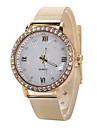 Mulheres Relógio de Moda Relógio Casual imitação de diamante Quartzo Aço Inoxidável Banda Prata Dourada