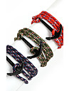 Beadia 1Pc Black Anchor Retro Multilayer Risers Bracelet Christmas Gifts