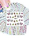 50pcs diferentes estilos de moda flores padrão prego de transferência arte da água adesivos