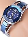 Mulheres Relógio Elegante Relógio de Moda Bracele Relógio Simulado Diamante Relógio Strass imitação de diamante Quartzo Aço Inoxidável